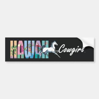 TEE Hawaii Cowgirl Bumper Sticker
