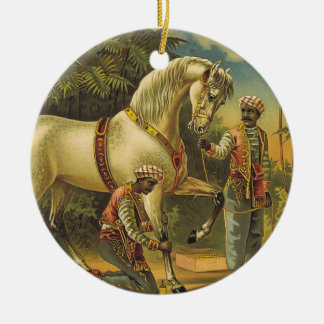 TEE Horse Royalty Round Ceramic Decoration