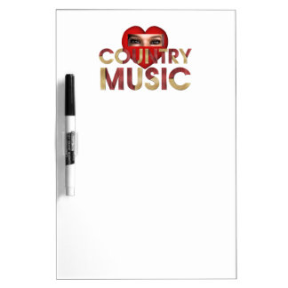 TEE I Love Country Music Dry-Erase Boards