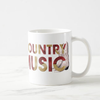 TEE I Love Country Music Basic White Mug
