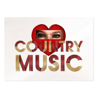 TEE I Love Country Music Pack Of Chubby Business Cards