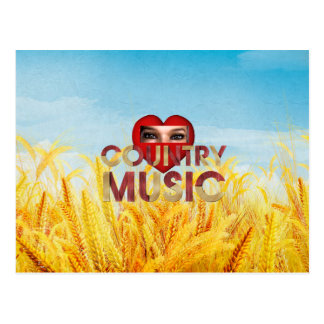 TEE I Love Country Music Postcard