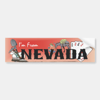 TEE I m From Nevada Bumper Stickers