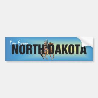 TEE I m From North Dakota Bumper Stickers
