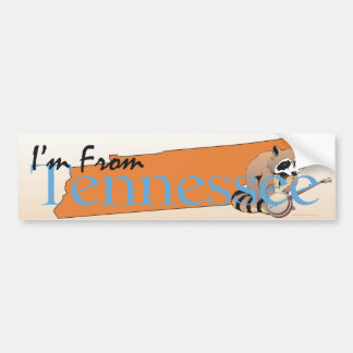 TEE I m From Tennessee Bumper Stickers