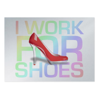 TEE I Work For Shoes Pack Of Chubby Business Cards