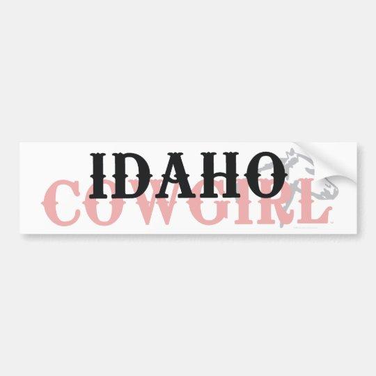 TEE Idaho Cowgirl Bumper Sticker
