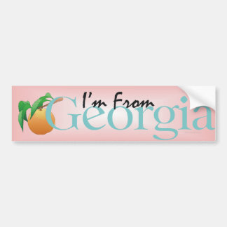 TEE I'm From Georgia Bumper Sticker