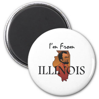 TEE I'm From Illinois Magnet