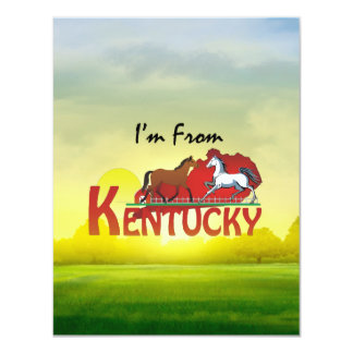 TEE I'm From Kentucky 4.25x5.5 Paper Invitation Card