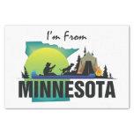 "TEE I'm from Minnesota 10"" X 15"" Tissue Paper"