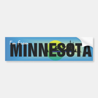 TEE I'm From Minnesota Bumper Sticker