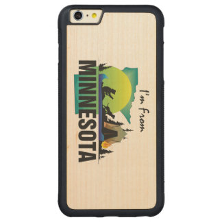 TEE I'm from Minnesota Carved Maple iPhone 6 Plus Bumper Case