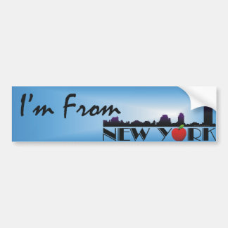 TEE I'm From New York Bumper Sticker