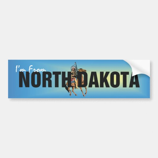 TEE I'm From North Dakota Bumper Stickers