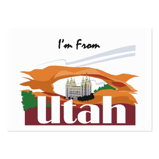 TEE I'm From Utah Business Card