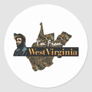 TEE I'm From West Virginia Classic Round Sticker