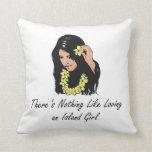 TEE Island Girl Throw Pillows