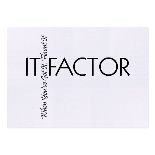 TEE It Factor Business Cards