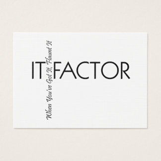 TEE It Factor Business Card
