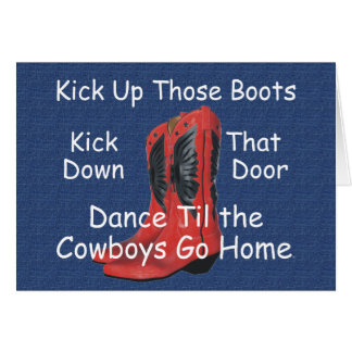 TEE Kick Up Those Boots Card