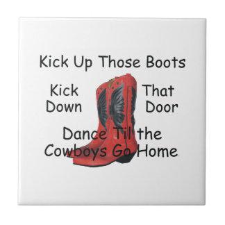 TEE Kick Up Those Boots Tile