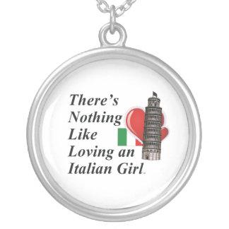 TEE Love Italian Round Pendant Necklace