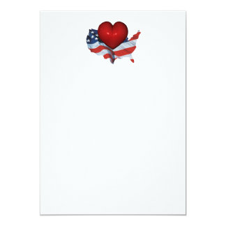 TEE Love My Country 13 Cm X 18 Cm Invitation Card