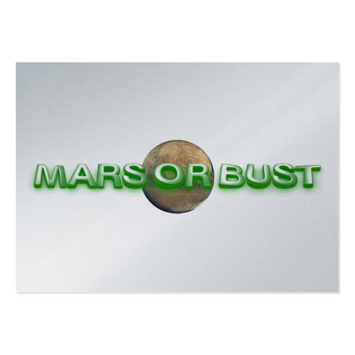 TEE Mars Or Bust Business Card Templates