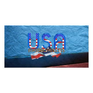 TEE Massachusetts Patriot Customized Photo Card