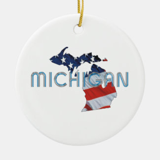 TEE Michigan Patriot Christmas Ornament