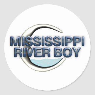 TEE Mississippi River Man Round Stickers