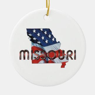 TEE Missouri Patriot Round Ceramic Decoration