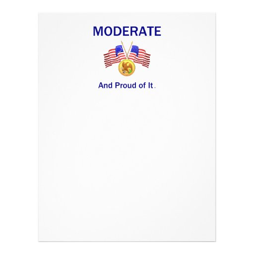TEE Moderate And Proud Of It Flyer Design