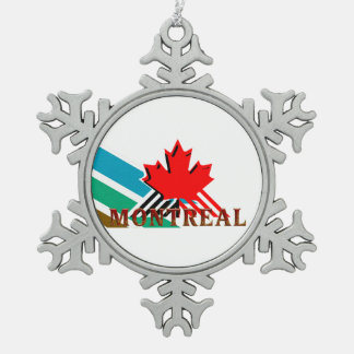 TEE Montreal Snowflake Pewter Christmas Ornament