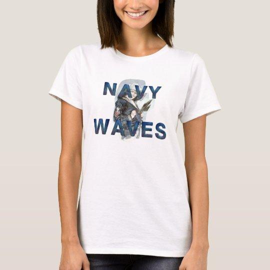 TEE Navy Waves