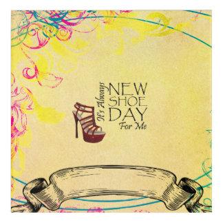TEE New Shoe Day Acrylic Wall Art