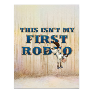 TEE Not My First Rodeo 11 Cm X 14 Cm Invitation Card