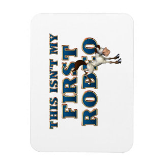 TEE Not My First Rodeo Vinyl Magnets