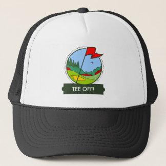 Tee Off! Golfing Motif Trucker Hat