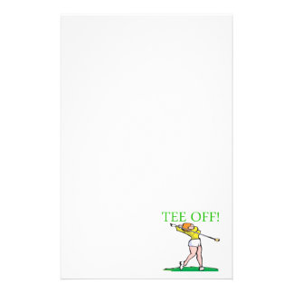 Tee Off Personalised Stationery