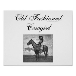 TEE Old Fashioned Cowgirl Print