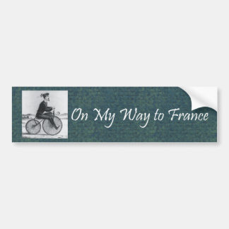 TEE On My Way To France Bumper Sticker