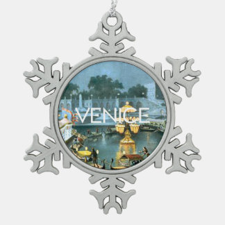 TEE On To Venice Snowflake Pewter Christmas Ornament