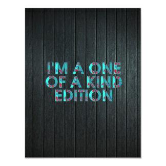 TEE One of a Kind Edition 11 Cm X 14 Cm Invitation Card