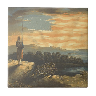 TEE Patriotic Sky Small Square Tile