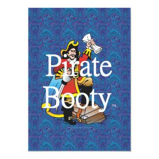 TEE Pirate Booty 13 Cm X 18 Cm Invitation Card