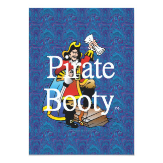 TEE Pirate Booty 13 Cm X 18 Cm Invitation Card