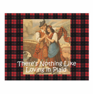 TEE Plaid Love Standing Photo Sculpture