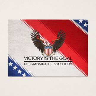 TEE Political Victory Slogan Business Card